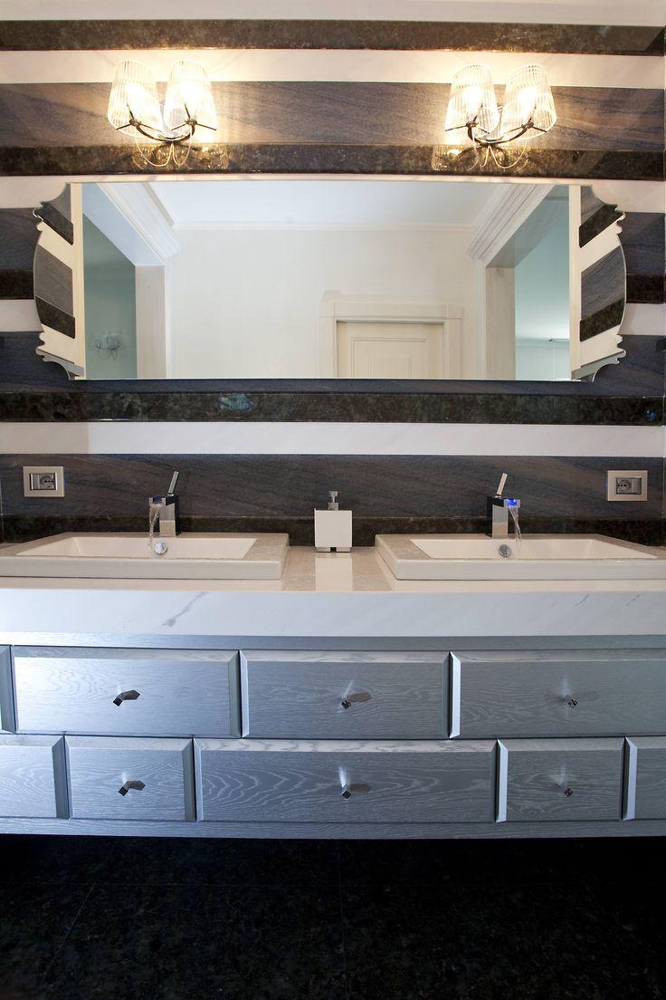 silver bathroom