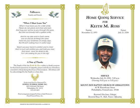 Free Funeral Program Templates | funeral program sample order of service