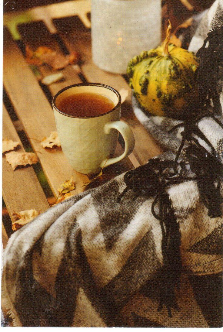 картинки осенний день одеяло кофе славянские