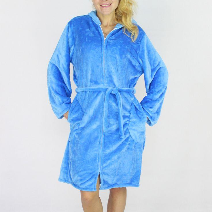 BFDADI Autumn-Winter Zipper Bath Robe Female Coral Fleece 5 Colors Night Gown Spa Bathrobe Pajamas Long Sleeve Womens Nightwear