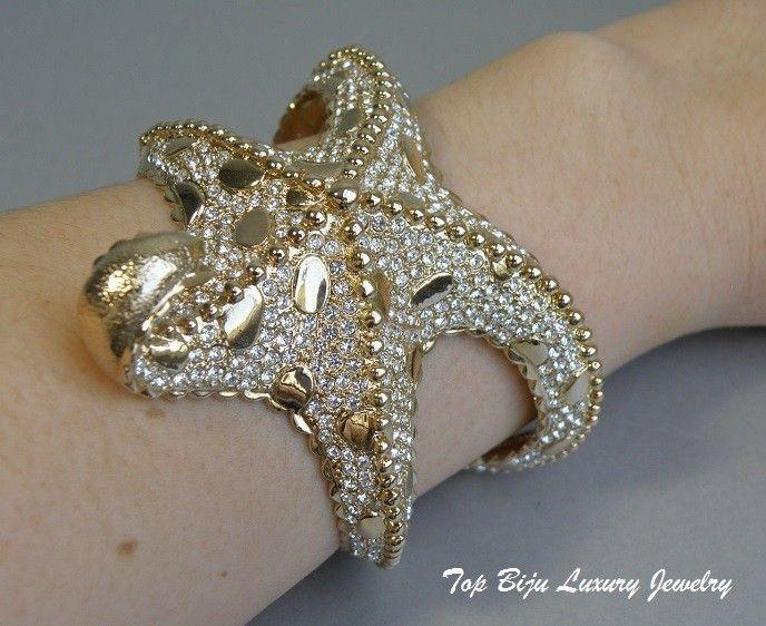"""438. Стильный браслет """"Морская звезда"""". Литая форма, ювелирный сплав под золото, отлично сидит на руке. Цена 400грн"""