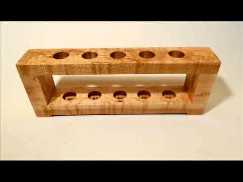 custom Bird's eye maple wood 5 razor safety razor stand - YouTube