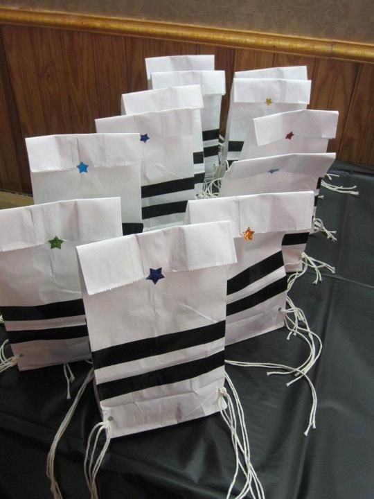 Tzitzit party bags!!! I just thought this was funny! :)