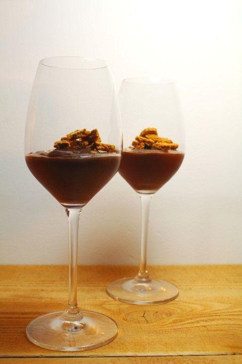 Chocolademousse met rode wijn