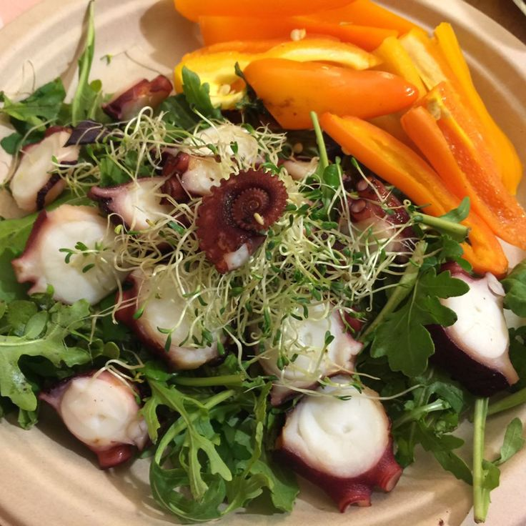Seafood party at dinner 🐟🌊 . #octopus#blackcod#cuttlefish#한치#문어#은대구#highproteindiet#claireskitchen