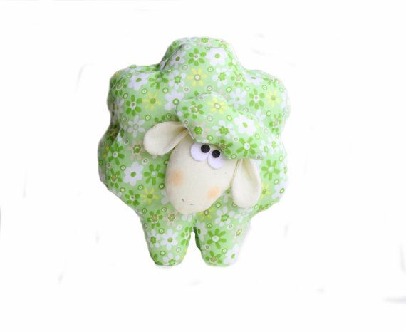Cute textile sheep toy  floral fabric sheep  by MiracleInspiration, $22.50