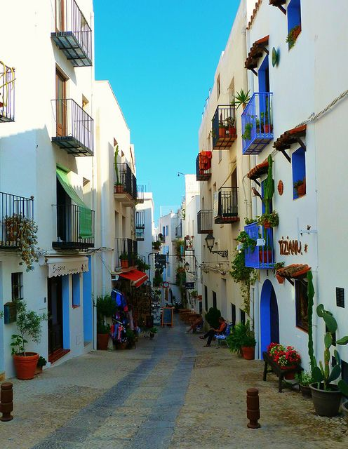 On the streets of Peñíscola, Costa del Azahar, Spain. A great places to spend a few days...