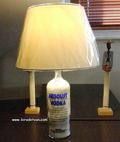 Absolut Vodka Bottle Lamp - info@biradetvar.com