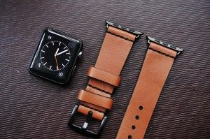 <!--:en--> Handmade Vintage Leather Strap  incl. Lugs Adapter for Apple Watch (or Apple Watch Sport) 42mm or 38mm<!--:-->