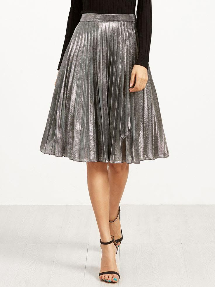 d7c1e7f0fc4 Faldas midi plisadas: moda para todo tipo de cuerpos | Skirts | Falda midi  plisada, Faldas plisadas y Faldas