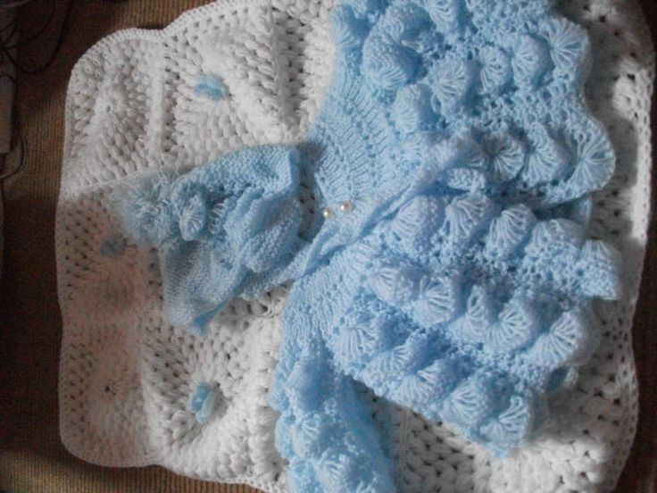 Matinee Set and Blanket - Knitting creation by mobilecrafts   Knit.Community
