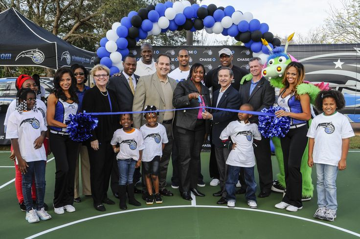 Orlando Magic, Chase and Magic Guard Arron Afflalo Celebrated Start of Partnership with Court Refurbishment at Pine Hills Elementary