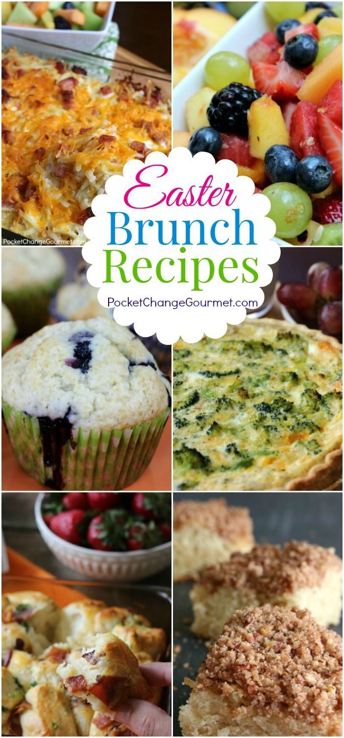 Easter Brunch Recipes - Breakfast Casseroles, Fruit Salad, Coffee Cakes, Muffins and More! Serve up a special brunch! Pin to your Recipe Board!