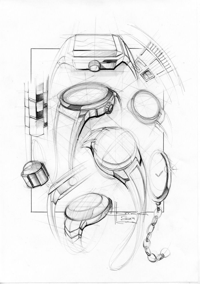 The Top 5 High End SmartWatches Compared sketches by Mikaël Correia at Coroflot.com