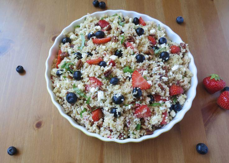 Strawberry & Blue Cheese Quinoa Salad