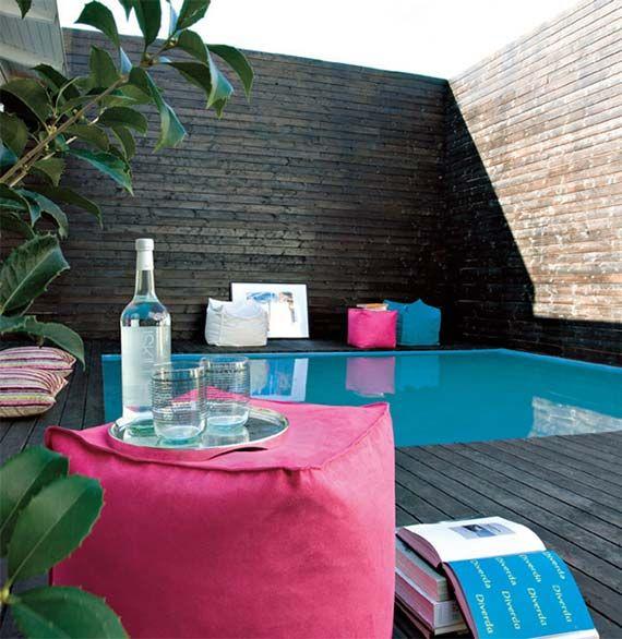 Modern pool deck imitation