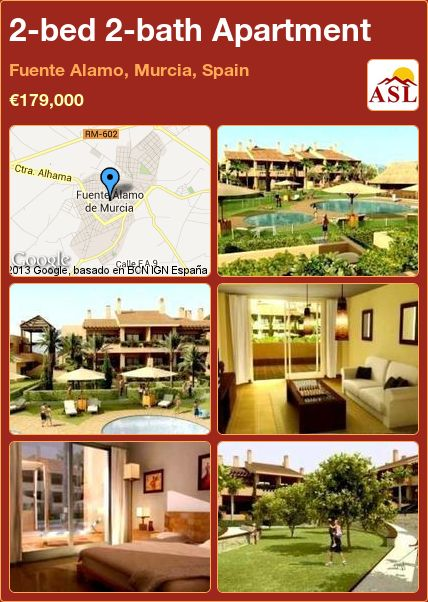 2-bed 2-bath Apartment in Fuente Alamo, Murcia, Spain ►€179,000 #PropertyForSaleInSpain