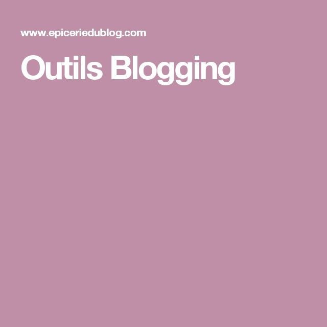Outils Blogging