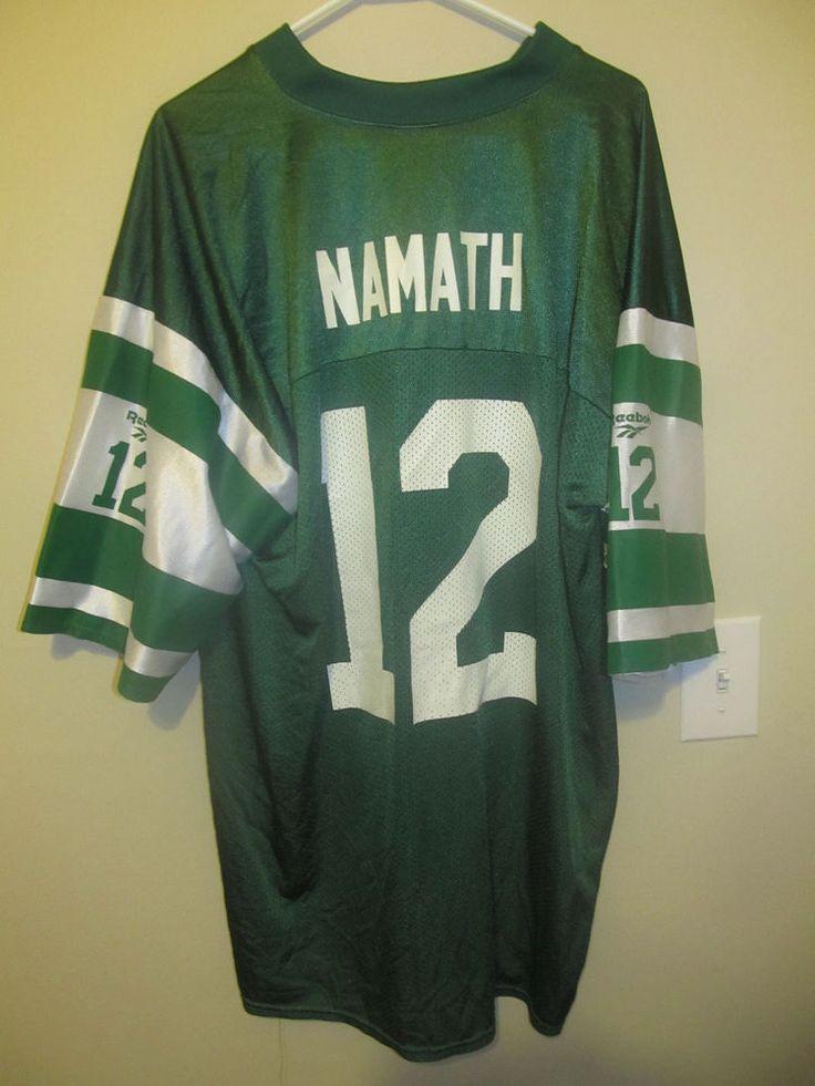 Joe Namath -  New York Jets Jersey - Reebok Adult XL #Reebok #NewYorkJets