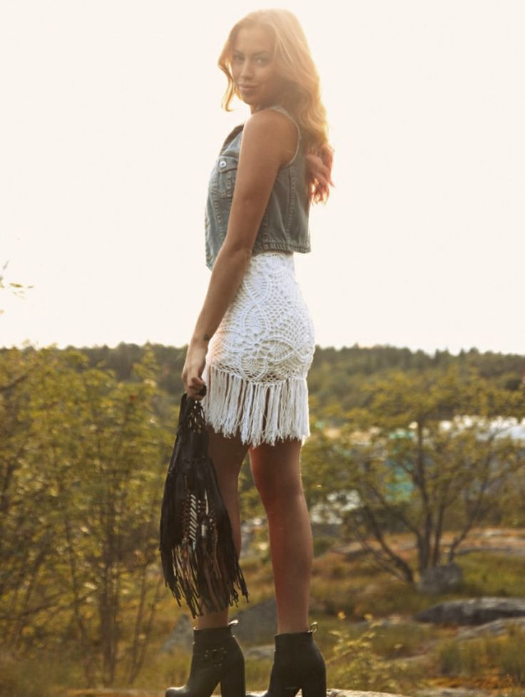 jeans jacket top white lace stunning skirt short mini shoes @roressclothes closet ideas clothing outfit style fashion apparel women summer