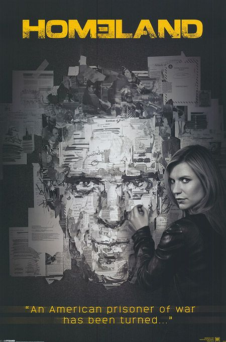 "Homeland TV series Movie poster. ""An American prisoner of war has been turned."""