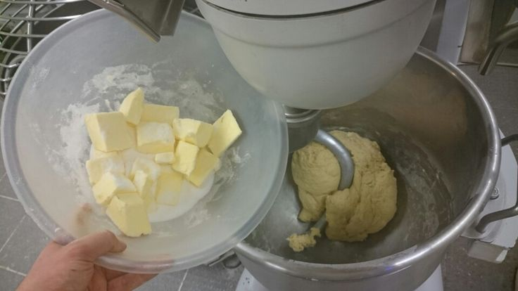 Mixing brioche.
