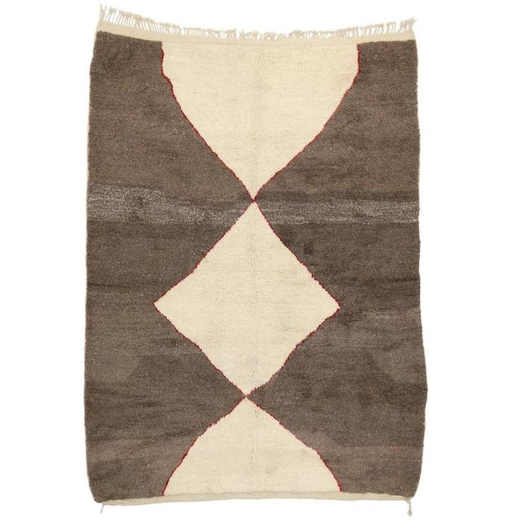 Minimalist Berber Moroccan Rug with Mid-Century Modern Design | From a unique collection of antique and modern moroccan and north african rugs at https://www.1stdibs.com/furniture/rugs-carpets/moroccan-rugs/