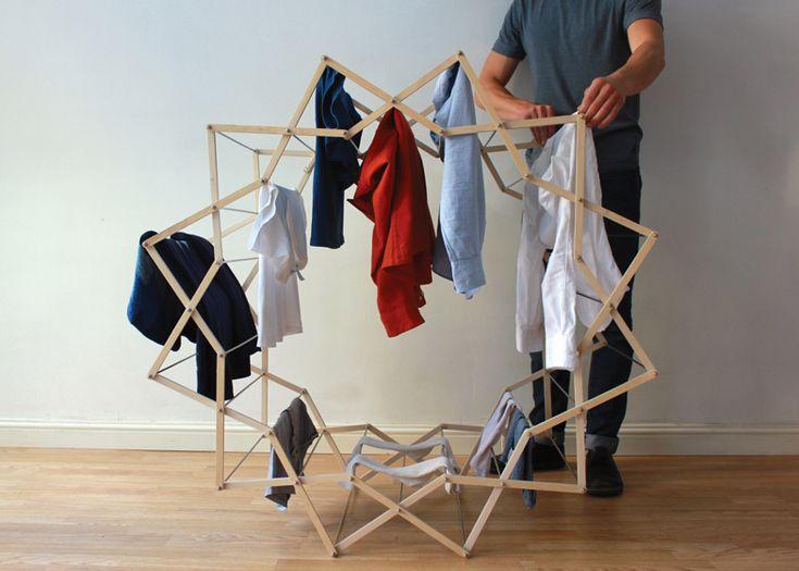 これさえあれば洗濯物がインテリアになる!? 星型アーチがたまらなく可愛らしい室内物干し『ClothesHorse』