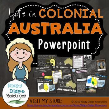 Life in Colonial Australia Powerpoint: Designed to compliment the Australian HASS curriculum, this Powerpoint is a great way to teach content, revise student understanding and consolidate learning. Use it as a teaching aide, for individual student research or as a whole class revision activity, either
