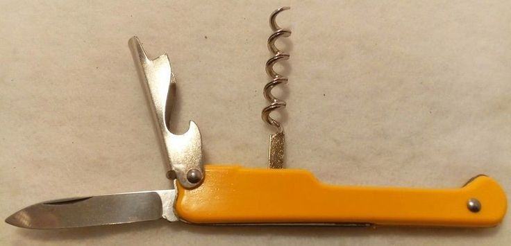 Vintage Facosa Yellow Folding Pocket Knife ~ Le Thiers France
