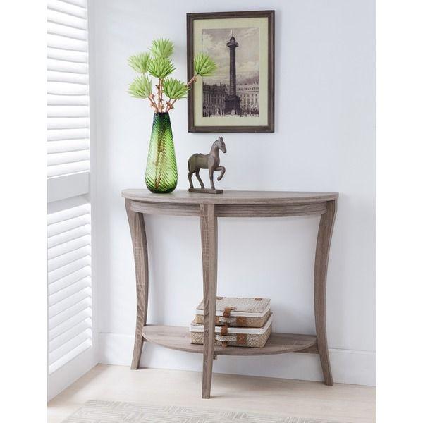 Furniture Of America Renesme Half Moon Sofa Table (Cappuccino), Brown