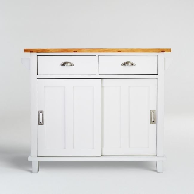 Shop For Belmont White Kitchen Island By Crate Barrel At Shopstyle Now For 499 In 2021 White Kitchen Island Contemporary Kitchen Island Stylish Kitchen Island