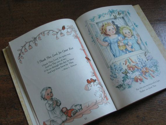 Vintage Children's Book Prayers for Children A by REadCycle
