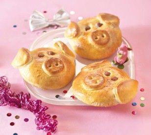 Süße Glücksschweinchen für Silvester Rezept
