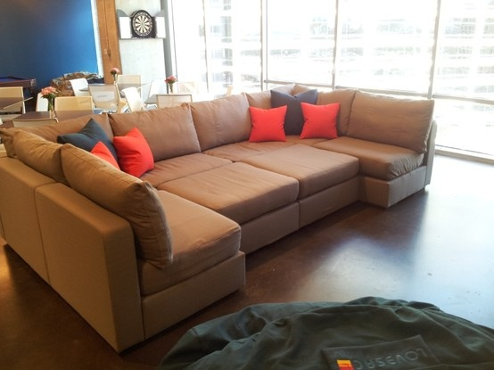 Another sactional set-up at Top Golf's HQ #Lovesac