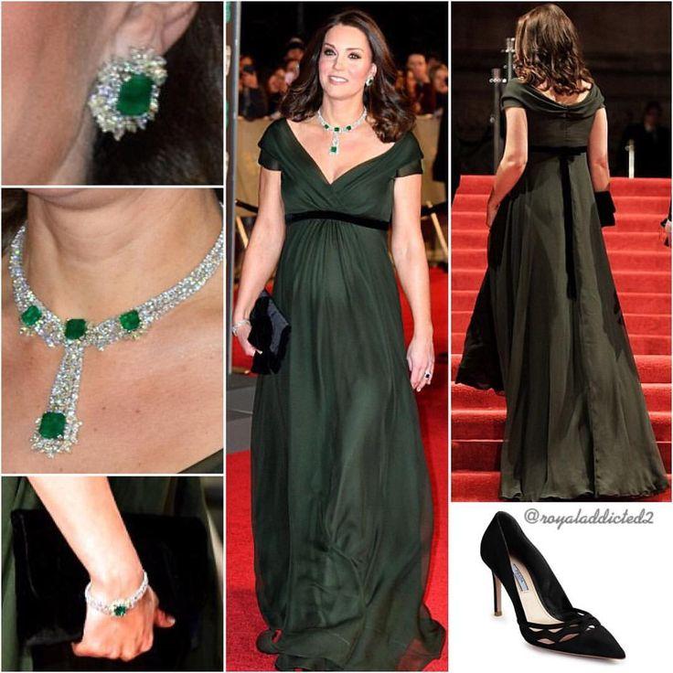 "978 Likes, 20 Comments - Royal Addicted (@royaladdicted2) on Instagram: ""Duchess of Cambridge Style! Gown: Jenny Packham; Shoes: Prada; Clutch: Mascaro; Jewels: Diamond and…"""