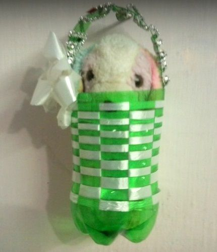 40 best recycled crafts images on pinterest recycled for Plastic soda bottle crafts
