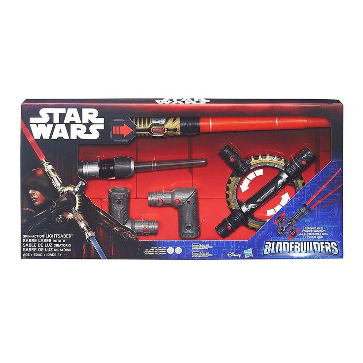 Star Wars Blade Builders Spin Action Lightsaber