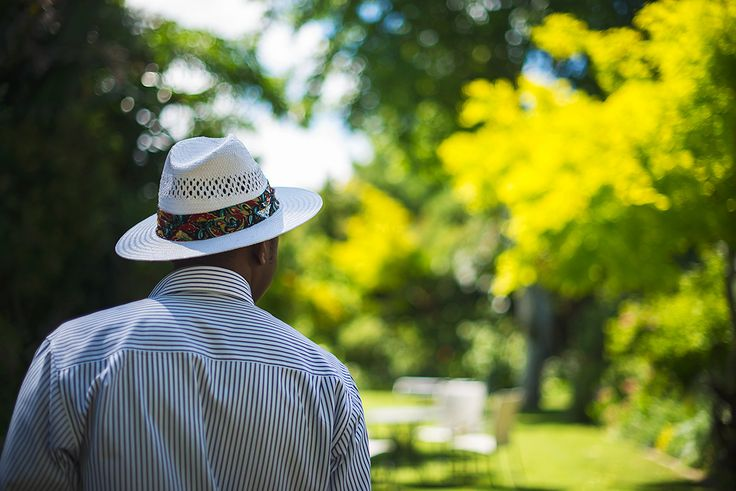 Sam - taking an afternoon stroll in our exquisite gardens at The Last Word Constantia.
