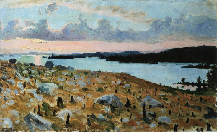 Woodland Clearing on the Shores of Lake Kallavesi, 1893 / Akseli Gallen-Kallela