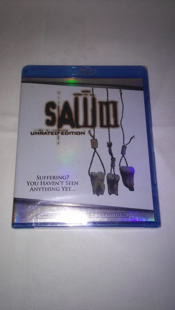 Saw III Blu ray UNRATED RARE HORROR Sealed FREE US SHIPPING!