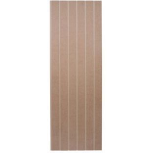 EASIpanel Tongue and Groove Stair Panel - 1525 x 516mm, £12.79 each at Homebase. Mdf.  Paint for kitchen splashback.