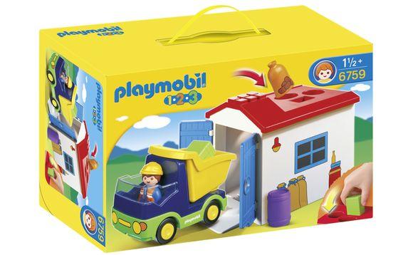 Playmobil 1.2.3 - Camion avec garage 1.2.3