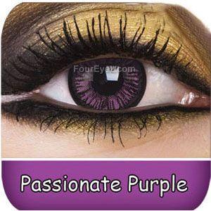 Passionate Purple Big Eye Contact Lenses