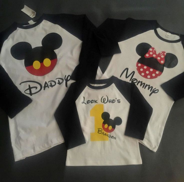 Mickey Mouse family shirts