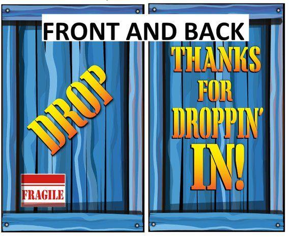 Fortnite Birthday Supply Drop Favor Bags Printable Party Bag