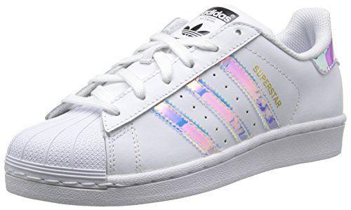 adidas Superstar, Baskets Basses Mixte Enfant, Blanc (Ftwr White/Ftwr White/Metallic Silver Sld), 36 2/3 EU: Tweet – Obermaterial: Leder /…