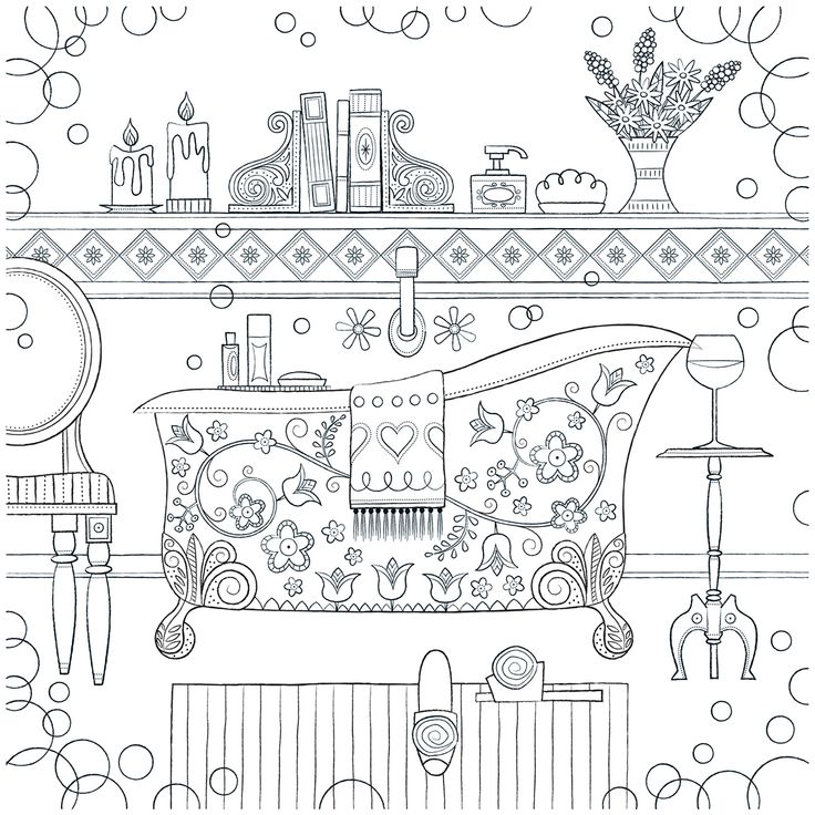 Home Is Where the Heart Is – Adult Coloring Book on Behance