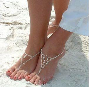 beautiful beach wedding shoes!