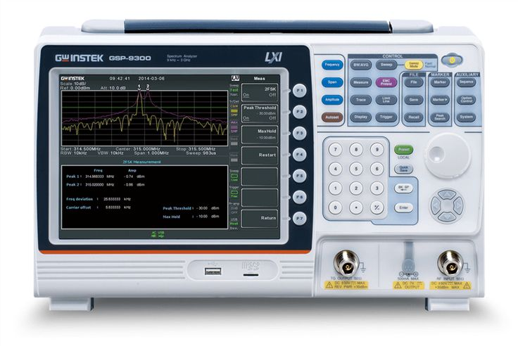 Spectrum Analyzer,GSP-9300 is a light, compact and high C/P ratio 3GHz spectrum analyzer. The GSP-9300 frequency range stretches from 9kHz to 3GHz and features many functions such as radio frequency and power measurement, 2FSK digital communications analysis, EMC pretest, and active component P1dB point measurement, etc. It can support the fast sweep speed up to 307us. It is the ideal instrument for various application fields such as the basic operation of R&D...